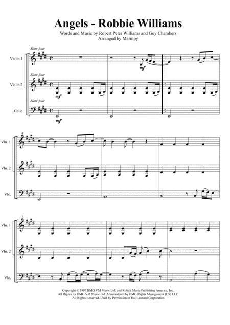 Angels - Robbie Williams (arranged for String Trio)