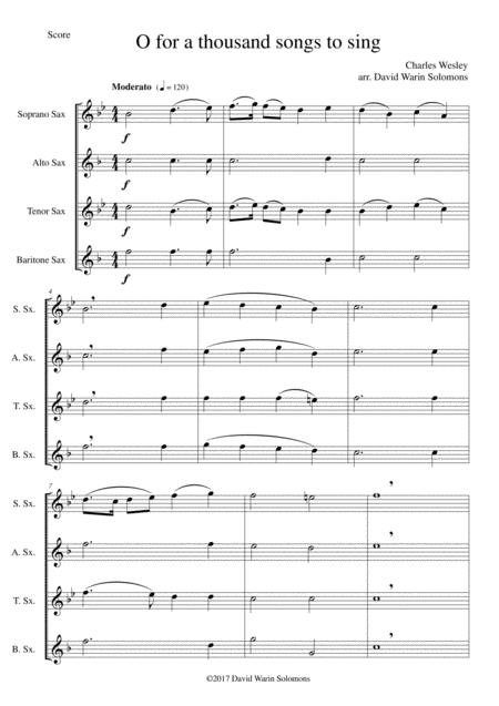Download 7 Songs Of Glory For Saxophone Quartet Sheet Music