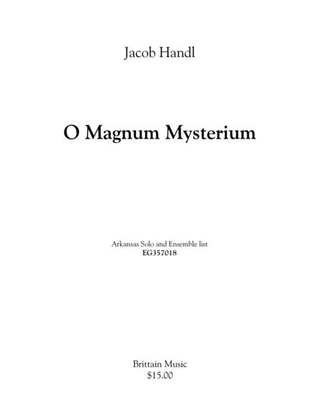 O Magnum Mysterium - brass choir