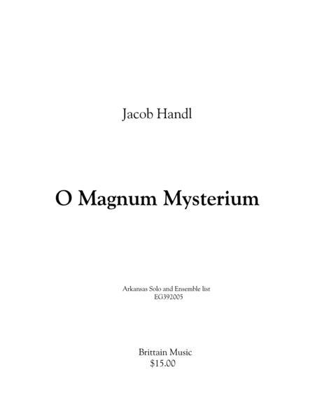 O Magnum Mysterium - Tuba-Euphonium double choir