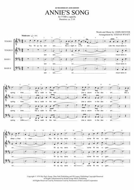 Annie's Song - TTBB a cappella