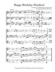 Happy Birthday Fanfare (Trumpet Trio)