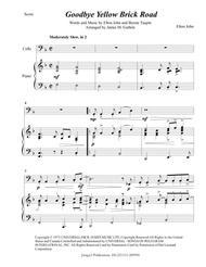 Elton John: Goodbye Yellow Brick Road for Cello & Piano