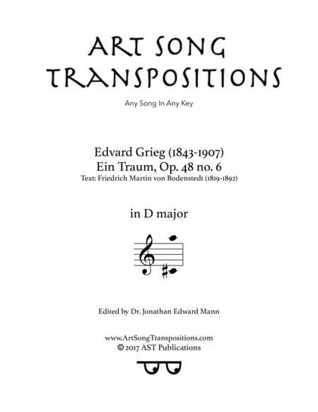 Ein Traum, Op. 48 no. 6 (D major)