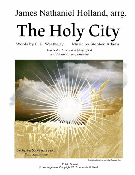 The Holy City for Solo Bass Voice and Piano (Key of G)