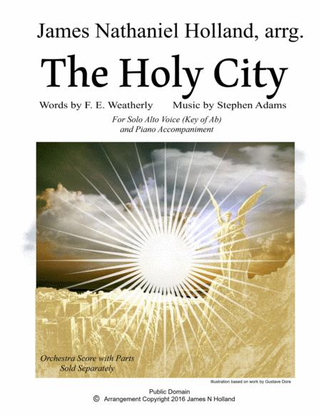 The Holy City for Solo Alto Voice and Piano (Key of Ab)