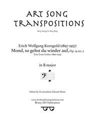 Mond, so gehst du wieder auf, Op. 14 no. 3 (B major, bass clef)