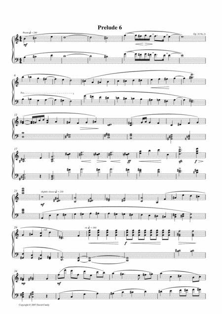 Prelude for solo piano, Op. 16, No 6