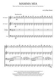 Mamma Mia by ABBA for Brass Quartet