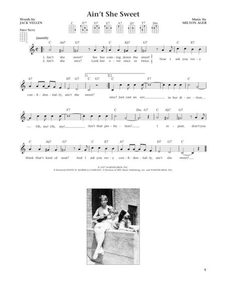 Ain't She Sweet (from The Daily Ukulele) (arr. Liz and Jim Beloff)