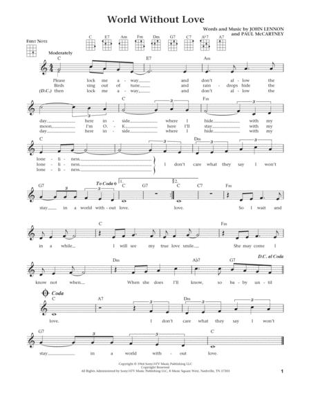 World Without Love (from The Daily Ukulele) (arr. Liz and Jim Beloff)