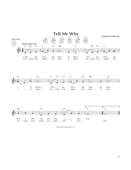 Tell Me Why (from The Daily Ukulele) (arr. Liz and Jim Beloff)