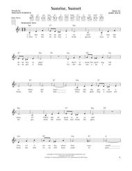 Sunrise, Sunset (from The Daily Ukulele) (arr. Liz and Jim Beloff)