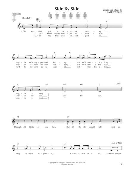 Side By Side (from The Daily Ukulele) (arr. Liz and Jim Beloff)