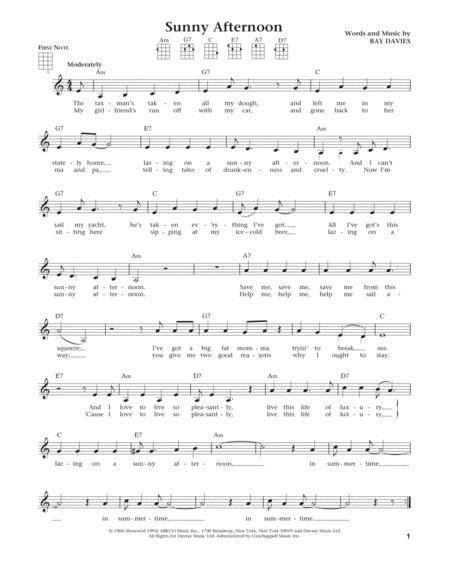 Sunny Afternoon (from The Daily Ukulele) (arr. Liz and Jim Beloff)
