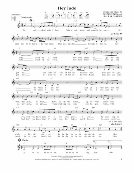 Preview Hey Jude From The Daily Ukulele Arr Liz And Jim Beloff