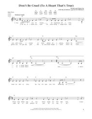 Don't Be Cruel (To A Heart That's True) (from The Daily Ukulele) (arr. Liz and Jim Beloff)
