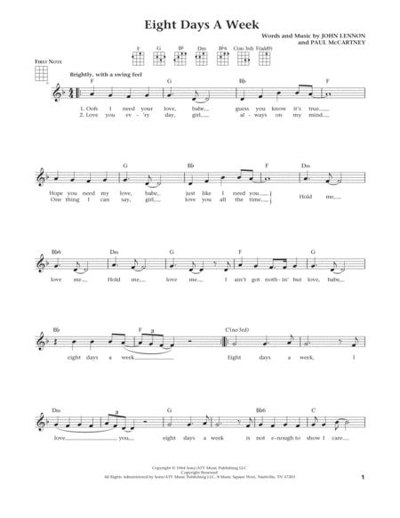 Eight Days A Week (from The Daily Ukulele) (arr. Liz and Jim Beloff)