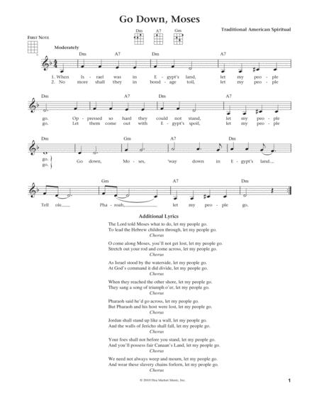 Go Down, Moses (from The Daily Ukulele) (arr. Liz and Jim Beloff)