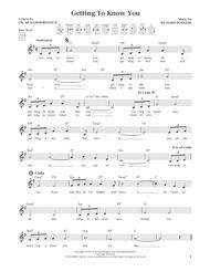 Getting To Know You (from The Daily Ukulele) (arr. Liz and Jim Beloff)