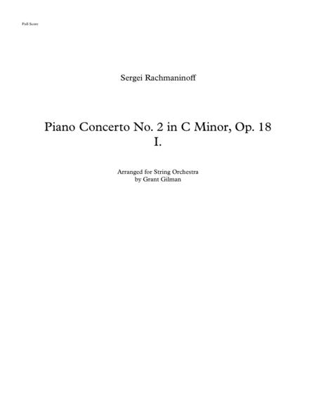 Rachmaninoff Piano Concert No. 2, I. Moderato - arranged for solo piano and string orchestra