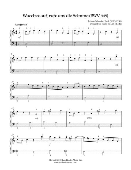 Bach - Wachet auf (