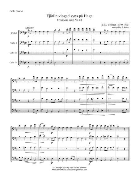 Fjäriln vingad syns på Haga for cello quartet