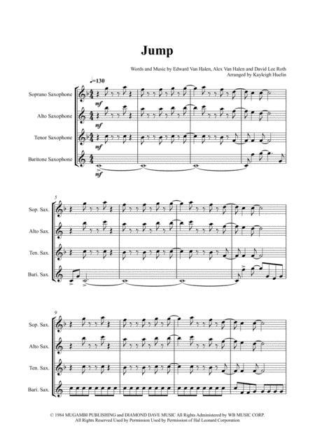 Jump by Van Halen - Saxophone quartet (SATB)