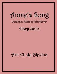 Annie's Song, arranged for Lever or Pedal Harp