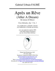 Apres un Reve, D minor, p/voc, new English with French & Tuscan
