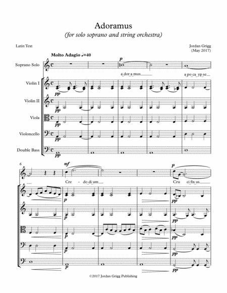 Adoramus (for solo soprano and string orchestra)