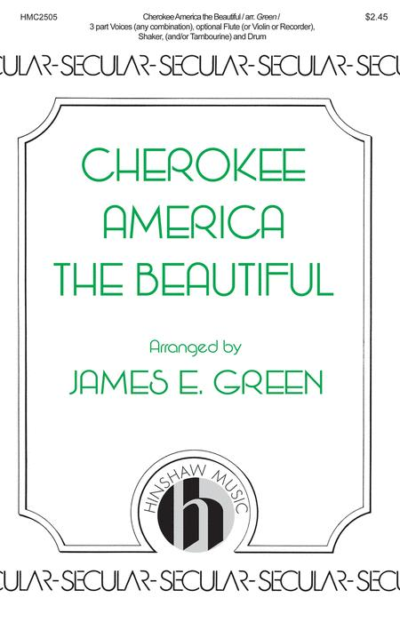 Preview Cherokee America The Beautiful By James E  Green (HL