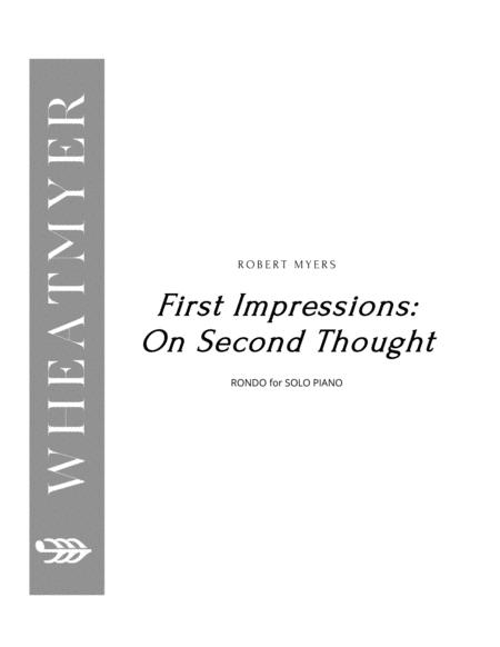 First Impressions: On Second Thought