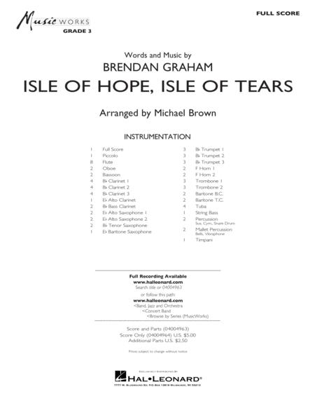 Isle of Hope, Isle of Tears - Conductor Score (Full Score)