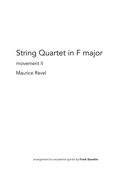 Ravel's String Quartet for Woodwind Quintet