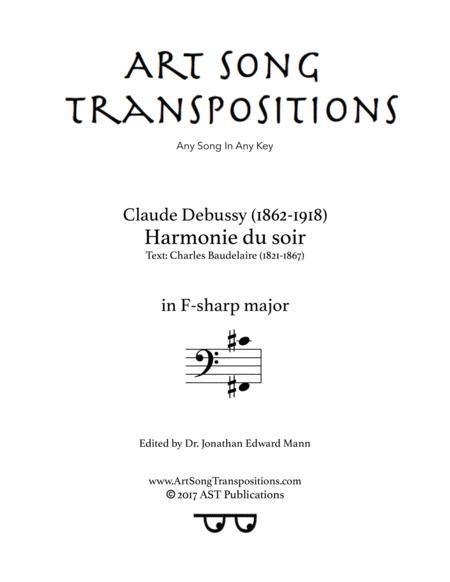 Harmonie du soir (F-sharp major, bass clef)