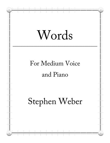 Words: Eight Songs for Medium Voice and Piano
