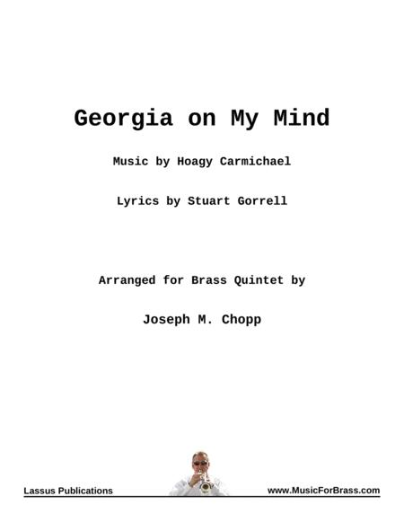 Georgia On My Mind for Brass Quintet