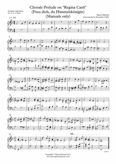 Organ Chorale Prelude on Regina Caeli (Coeli) (Freu dich O Himmelskönigin by Simon Peberdy (on original 12th C melody)