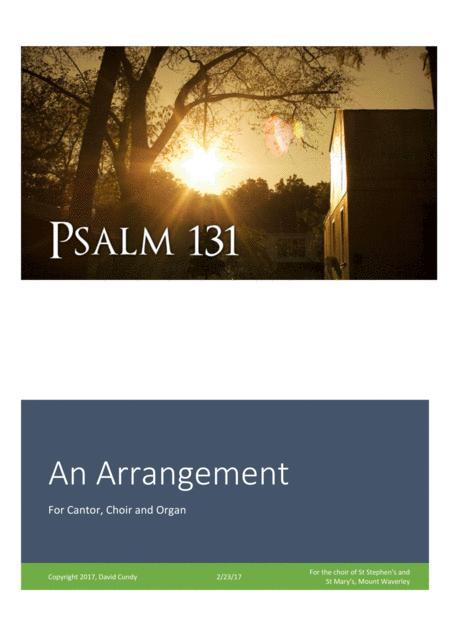 Psalm 131 for cantor, choir and organ