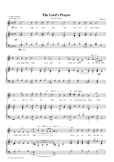 The Lord's Prayer for two voices and piano, Op. 11