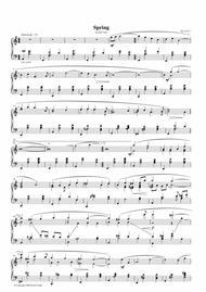 Seasons Suite for solo Piano, Op. 6, No. 3 - Spring