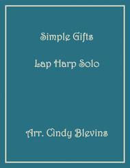 Simple Gifts, Solo for Lap Harp, from my book Feast of Favorites, Vol. 4