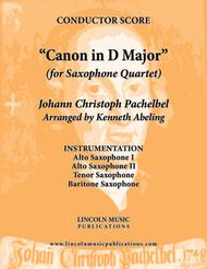 Pachelbel - Canon in D Major (for Saxophone Quartet AATB)