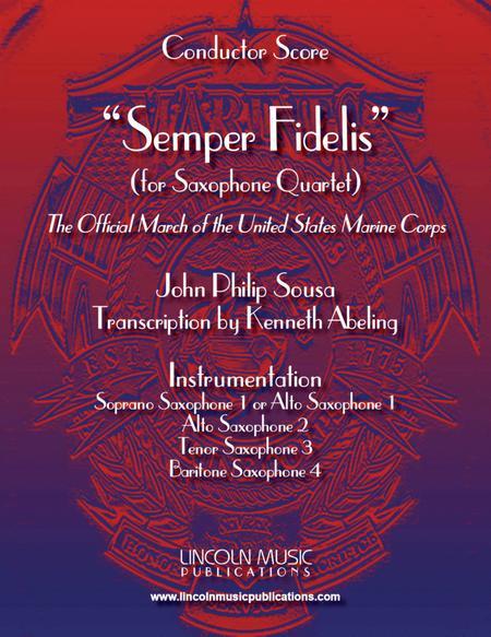 March - Semper Fidelis (for Saxophone Quartet SATB or AATB)