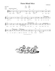 Three Blind Mice (from The Daily Ukulele) (arr. Liz and Jim Beloff)