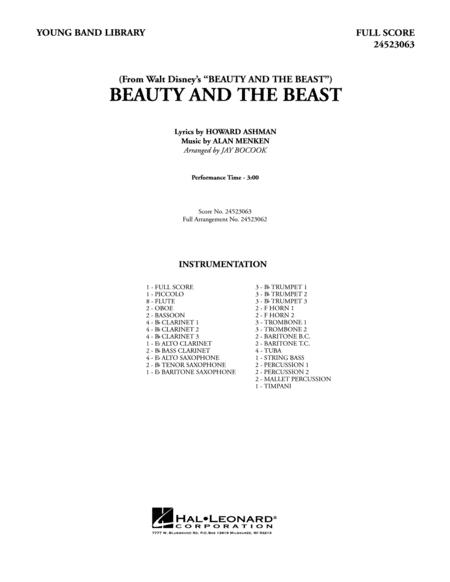 Beauty and the Beast - Full Score