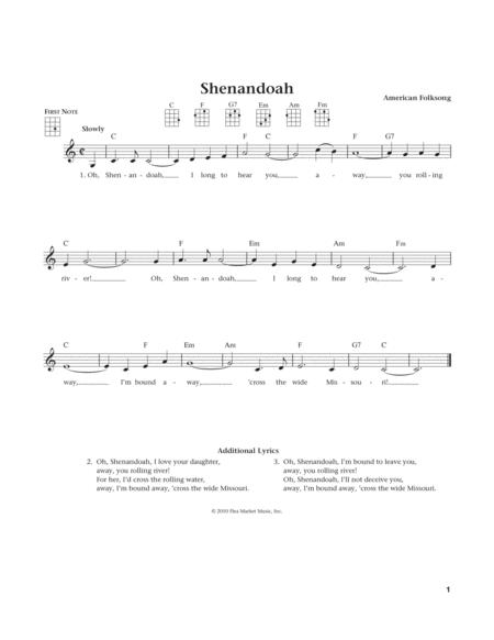 Shenandoah (from The Daily Ukulele) (arr. Liz and Jim Beloff)