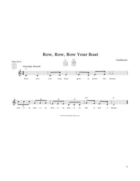 Row, Row, Row Your Boat (from The Daily Ukulele) (arr. Liz and Jim Beloff)