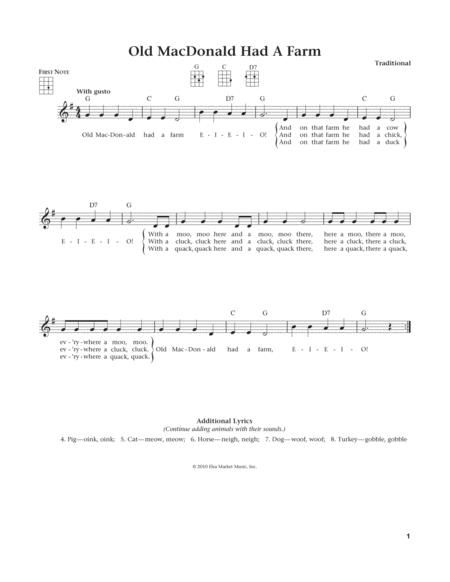 Old Macdonald Had A Farm (from The Daily Ukulele) (arr. Liz and Jim Beloff)